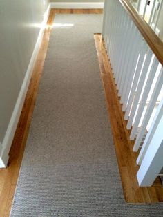 Check out this Merida Studio flat woven #wool #stair #runner that we fabricated using a fold and stick method.