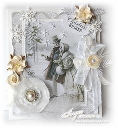 Vintage Christmas Card by Inger Harding