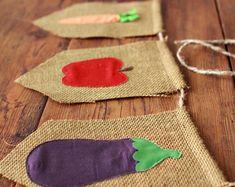 Farmer's markt jute Banner appel wortel radijs aubergine squash fruit groente