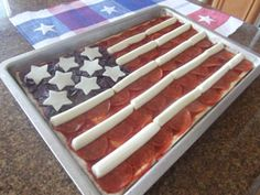 Flag Pizza!  This is fun!
