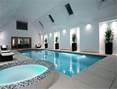 Luxury indoor swimming pool.