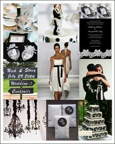 Black and white wedding inspirations by one of our top wedding sites, The Wedding Outlet http://www.theweddingoutlet.com/wedding-accessories/Black-White-Weddings