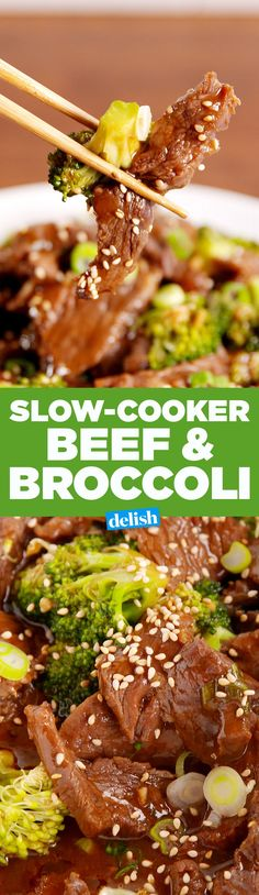 This slow-cooker beef & broccoli will make you throw away all of your takeout menus. Get the recipe on Delish.com.