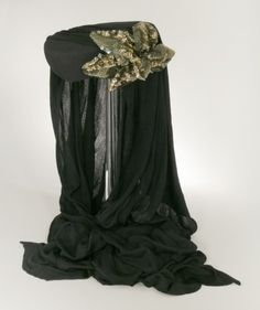 Woman's scarf hat | Designer: Gilbert Adrian | United States, circa 1946 | Materials: silk matte jersey knit, sequins | Los Angeles County Museum of Art, LACMA