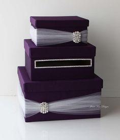 Wedding Card Box Money Box Wedding Gift Card by jamiekimdesigns, $125.00