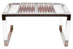Charles Hollis Jones Backgammon Table - One Kings Lane - Vintage & Market Finds - Furniture