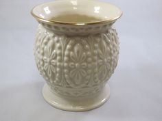 Lenox Ivory Porcelain Vase, 24k Gold Trim, Bud Vase, Fine China, Small Bud Vase, China Vase, Bumpy Details by EstEclecticTreasures on Etsy