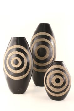 African Vases | Adinkrahene Sand Vases | African Products