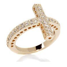 Crystal Cross Ring