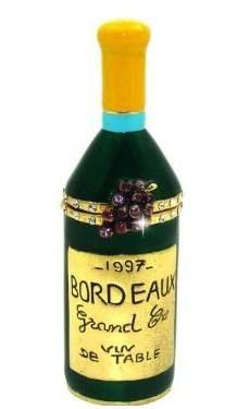 """Le Grand Cru"" French Wine Bottle Trinket Box  $29.99 www.Cute-Boxes.com"
