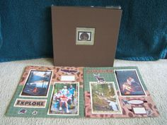 Premade Camping Scrapbook Album.  $89.99  20 pages