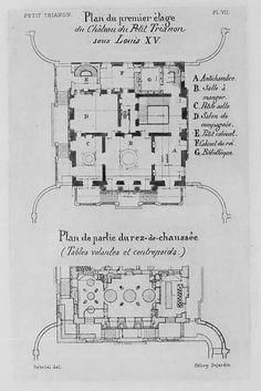 1 3 Mansion Floor Plans Le Petit Trianon Paris France