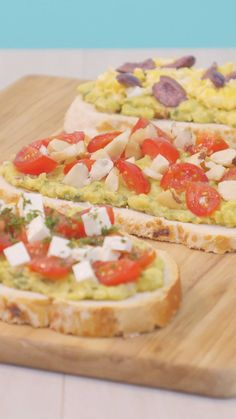 Avocado Toast, Bruschetta, Brunch, Finger Foods, Vegetable Pizza, Guacamole, Paleo, Food And Drink, Healthy Eating