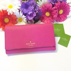 NWT Kate Spade Mikas Pond Phoenix Wallet NWT Kate Spade Mikas Pond Phoenix Wallet in Sweetheart Pink. Super cute but I ended up buying another Kate Spade wallet that I liked better  My loss your gain! kate spade Bags Wallets