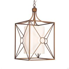 Josie Antique Copper Iron Chandelier with Fabric Shade | Overstock™ Shopping - Great Deals on Chandeliers & Pendants