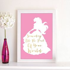 Disney Princess Ariel The Little Mermaid Song Quote by BrightPaper