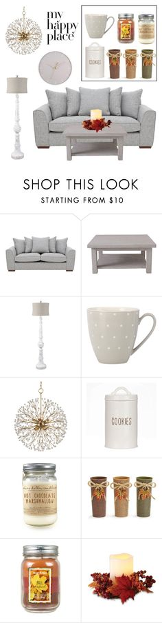 """""""My happy place"""" by rosky ❤ liked on Polyvore featuring interior, interiors, interior design, home, home decor, interior decorating, Rachel Ashwell, Surya, Kate Spade and Hudson Valley Lighting"""