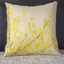 yellow pillow Cushion Without Core Decorative coussin Home Decor Sofa Chair Throw Pillows Decorate Pillow Cushions 45*45cm(China (Mainland))