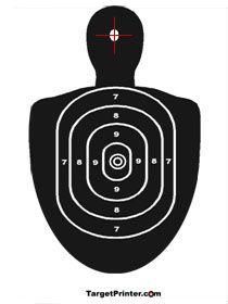 Printable Human Silhouette Shooting Range Target   Printable Targets @ TargetPrinter.com