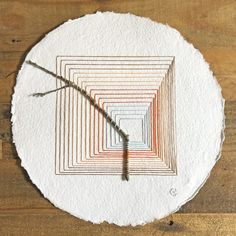 Paper Embroidery, Cross Stitch Embroidery, Geometric Shapes Art, Colossal Art, Weaving Projects, Sewing Art, Art Plastique, Fabric Art, Textile Art