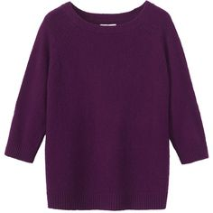 Toast Maxi Must Sweater (3 575 UAH) ❤ liked on Polyvore featuring tops, sweaters, loganberry, purple top, maxi top, scoop neck sweater, scoop neck top and raglan top