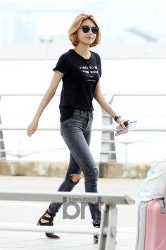 SNSD Sooyoung Airport Fashion 150725 2015