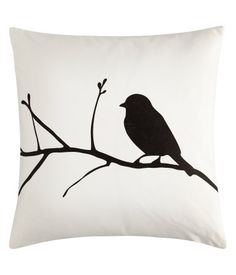 H Home bird cushion