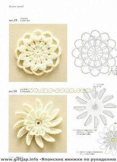 round crochet flower motifs