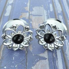 Steel Pair of Tribal Hearts Internally Threaded Double Flared Freedom Fashion Tunnels 316L S