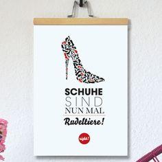 #design3000 Jetzt gibt's endlich die Rechtfertigung für all die Schuhe, die wir Frauen im Schrank sammeln!