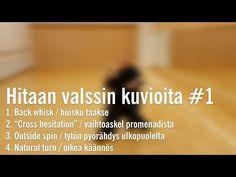 Hitaan valssin kuvioita #1 /outside spin ja back whisk - YouTube