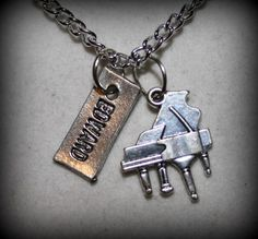 Inspired Twilight Saga Edward Piano Charm Necklace | BrulezRulez - Jewelry on ArtFire