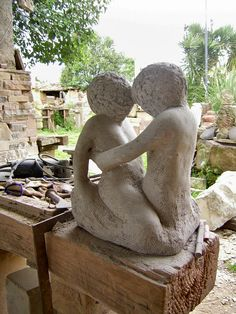 stone sculpture, work in progress