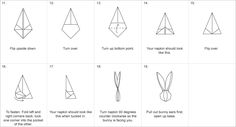 Bunny napkin folding instructions pt2
