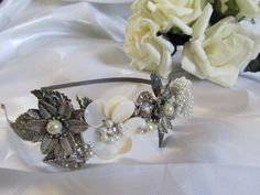 Beautiful Reworked Vintage inspired Flower by Craftswithchrissie, £25.00