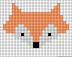 46 Ideas For Knitting Charts Fox Perler Beads Knitting Charts, Baby Knitting Patterns, Knitting Stitches, Knitting Ideas, Bead Loom Patterns, Beading Patterns, Cross Stitch Patterns, Bracelet Patterns, Embroidery Patterns