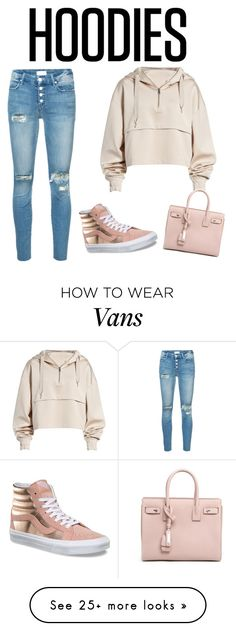 """Untitled #133"" by emabug-1 on Polyvore featuring Ivy Park, Mother, Vans, Yves Saint Laurent and Hoodies"