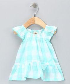 Blue Gingham Organic Dress - Infant & Toddler ~$19.99 by 'Kite Kids'