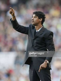 Barcelona manager Frank Rijkaard advises his team during the Primera Liga match between Barcelona and Atletico de Madrid at the Camp Nou stadium on. Camp Nou, Madrid, Barcelona, Management, Sports, Style, Hs Sports, Swag, Stylus