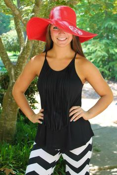 Tangled Tank in Black $29.99 #SouthernFriedChics