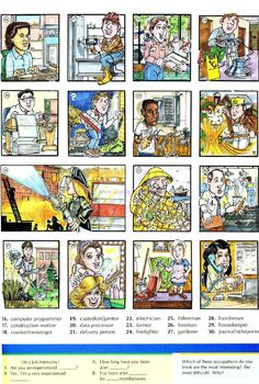 77 - OCCUPATIONS 1B - Pictures dictionary - English Study, explanations, free exercises, speaking, listening, grammar lessons, reading, writing, vocabulary, dictionary and teaching materials
