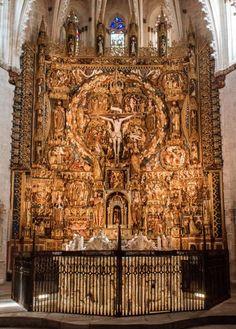 Sanctuary of the Cartuja de Miraflores, Burgos, Spain; featuring one of my favorite altarpieces.