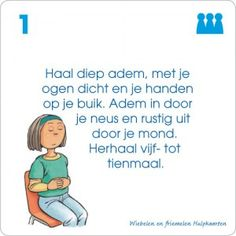 Onderwijs : Wiebelen en friemelen hulpkaarten Meditation Kids, Mindfulness For Kids, Zen Yoga, Children With Autism, Working With Children, Stress Counseling, Trauma, Pure Yoga, Mindfulness Training
