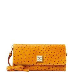 Dooney & Bourke Ostrich Clutch, Tan $111.00