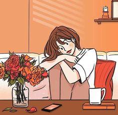 Cute Couple Cartoon, Cute Couple Art, Cartoon Art Styles, Cute Art Styles, Korean Illustration, Illustration Art, Aesthetic Anime, Aesthetic Art, Digital Art Girl