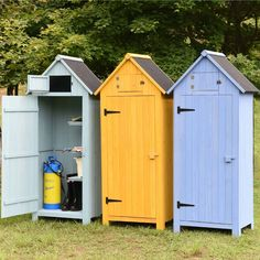 Holz-Gartenschrank-Blau