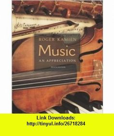Music  An Appreciation w/ Multimedia Companion 4.5 CD-ROM (9780072885057) Roger Kamien , ISBN-10: 007288505X  , ISBN-13: 978-0072885057 ,  , tutorials , pdf , ebook , torrent , downloads , rapidshare , filesonic , hotfile , megaupload , fileserve