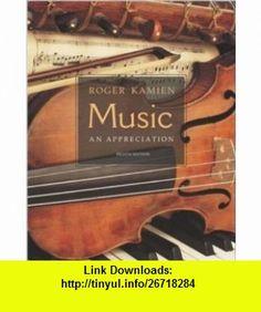 Music  An Appreciation w/ Multimedia Companion 4.5 CD-ROM (9780072885057) Roger Kamien , ISBN-10: 007288505X  , ISBN-13: 978-0072885057 ,  , tutorials , pdf , ebook , torrent , downloads , rapidshare , filesonic , hotfile , megaupload , fileserve
