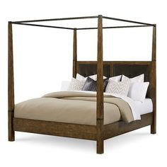 Sigourney Upholstered Canopy Bed
