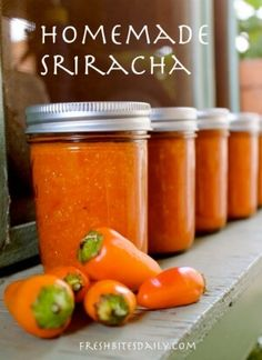 Last week we featured a post called: How To Make Candied Jalapenos. The post was very popular, with many folks asking for more of the same. You guys certainly like hot and spicy, but luckily so do we, so here you go… I searched around online and found this excellent sriracha recipe on 'Fresh Bites …